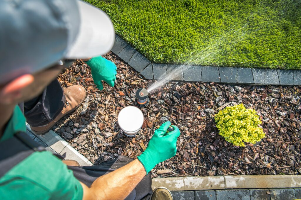 Adjusting Lawn Sprinkler